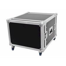 Flightcase rack. 8 unit. 45 cm. Professionel kvalitet. Med hjul
