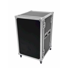 Flightcase rack. 15 unit. 45 cm. Professionel kvalitet. Med hjul