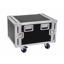 Flightcase rack. 6 unit. 55 cm. Professionel kvalitet. Med hjul