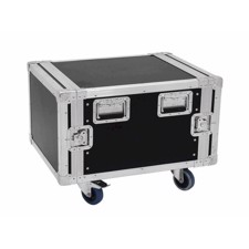Flightcase rack. 8 unit. 55 cm. Professionel kvalitet. Med hjul