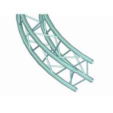 Alutruss 6082 Firkant Truss. Element til cirkel Ø 2 meter. 90°