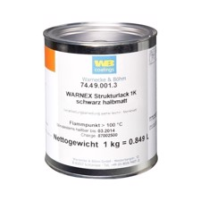 Warnex Texture Paint black 1 kg Warnex - 0131