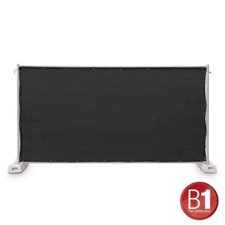 Adam Hall Fence Panel Gauze type 800 1.76 x 3.41 m, with eyelets, black - 0159 X BAU 1