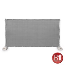 Adam Hall Fence Panel Gauze type 800 1.76 x 3.41 m, with eyelets, grey - 0159 X BAU 2