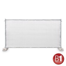 Adam Hall Fence Panel Gauze type 800 1.76 x 3.41 m, with eyelets, white - 0159 X BAU 3