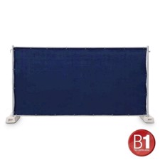 Adam Hall Fence Panel Gauze type 800 1.76 x 3.41 m, with eyelets, dark blue - 0159 X BAU 5