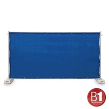 Adam Hall Fence Panel Gauze type 800 1.76 x 3.41 m, with eyelets, light blue - 0159 X BAU 6