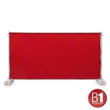 Adam Hall Fence Panel Gauze type 800 1.76 x 3.41 m, with eyelets, red - 0159 X BAU 7
