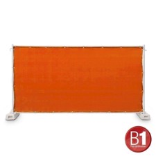 Adam Hall Fence Panel Gauze type 800 1.76 x 3.41 m, with eyelets, orange - 0159 X BAU 8