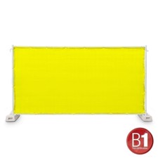 Adam Hall Fence Panel Gauze type 800 1.76 x 3.41 m, with eyelets, yellow - 0159 X BAU 9