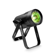 Cameo Compact Spot Light With 15W RGBW LED In Black Housing - Q-Spot 15 RGBW