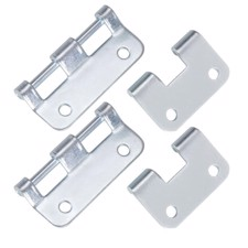 Adam Hall Bag of 2 Detachable Hinges large galvanised - 2251 M2 AH