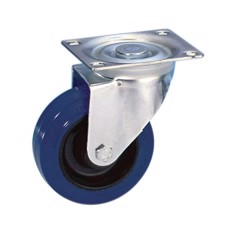 Guitel Swivel Castor 100 mm with blue Wheel - 37023