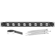 "Adam Hall 19"" angled rack panel for 8 x D-TYPE sockets - 872230"