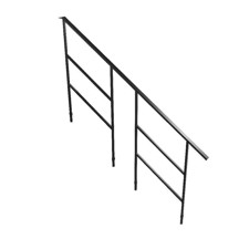 Bütec Handrail for Modular Stairs, Steel for 6 stairs - 5000 Z 016