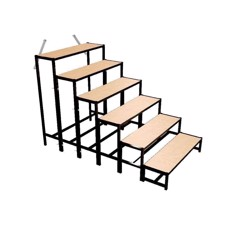 Bütec Stair, Steel, 6-step, for platforms up to 140 cm - 500611003020