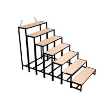 Bütec Stair, Steel, 7-step, for platforms up to 160 cm - 500711003020