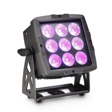Cameo FLAT PRO FLOOD 600 IP65 Outdoor Flood Light with 9 x 12 W RGBWA + UV 6-In-1 LEDs