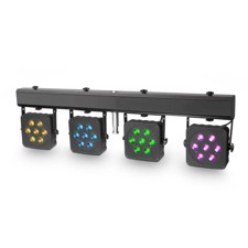 Cameo Compact 28 x 3 W tri colour LED lighting system incl. transport case - Multi PAR 2