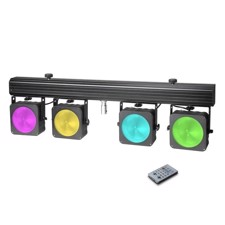 Cameo Compact 4 x 30 W RGB COB LED lighting system incl. transport case - Multi PAR COB 1