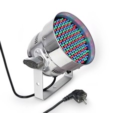 Cameo 151 x 5 mm LED RGB PAR light in polished housing - PAR 56 CAN RGB 05 PS