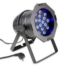 Cameo 18 x 3 W TRI colour LED RGB PAR light in black housing - PAR 64 CAN TRI 3W BS