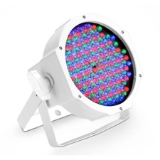 Cameo 144 x 10 mm  FLAT LED RGB PAR Spot light in white housing with IR-remote control capability - FLAT PAR RGB 10 IR WH