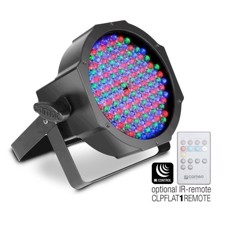 Cameo 144 x 10 mm  FLAT LED RGB PAR Spot light in black housing with IR-remote control capability - FLAT PAR RGB 10 IR