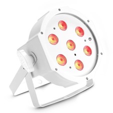 Cameo 7 x 4 W High-Power FLAT RGBW LED PAR Light in white housing with IR remote control option - FLAT PAR 1 RGBW IR WH