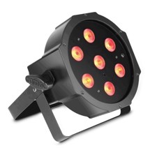Cameo 7 x 4 W High-Power FLAT RGBW LED PAR Light in black housing with IR remote control option - FLAT PAR 1 RGBW IR