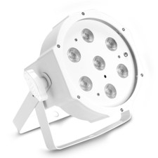 Cameo 7 x 4 W High-Power FLAT Tunable White LED PAR Light in white housing with IR remote control option - FLAT PAR 1 TW IR WH
