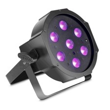 Cameo 7 x 3 W High Power FLAT LED UV PAR Light In Black Housing - FLAT PAR CAN 7X3W UV IR