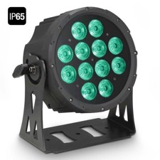 Cameo FLAT PRO 12 IP65 12 x 10 W FLAT LED Outdoor RGBWA PAR light in black housing