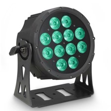Cameo 12 x 10 W FLAT LED RGBWA PAR light in black housing - FLAT PRO 12