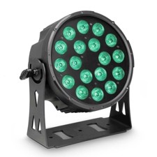 Cameo 18 x 10 W FLAT LED RGBWA PAR light in black housing - FLAT PRO 18