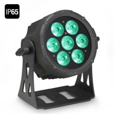 Cameo FLAT PRO 7 IP65 7 x 10 W FLAT LED Outdoor RGBWA PAR light in black housing