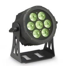 Cameo Compact, flat 7 x 8 Watt Quad LED PAR light - FLAT PRO 7 XS