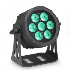 Cameo 7 x 10 W FLAT LED RGBWA PAR light in black housing - FLAT PRO 7