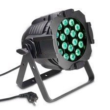 Cameo 18 x 8W QUAD Colour LED RGBW PAR light in black housing - Studio PAR 64 CAN Q 8W