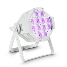 Cameo 12 x12W LED RGBWA+UV PAR light in white housing - Studio PAR 64 CAN RGBWA+UV 12 W WH