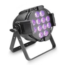 Cameo 12 x12W LED RGBWA+UV PAR light in black housing - Studio PAR 64 CAN RGBWA+UV 12 W