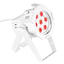 Cameo 7 x 8 W QUAD Colour LED PAR Can RGBW in white housing - Studio Mini PAR Q 8WWH