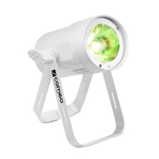 Cameo Compact Spot Light With 15W RGBW LED In White Housing - Q-Spot 15 RGBW WH