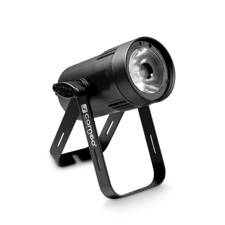 Cameo Compact Spot Light with 15W warm white LED in black housing - Q-Spot 15 W