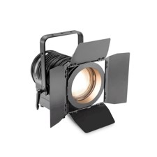 Cameo Theatre Spotlight with Fresnel Lens and 180 Watt Warm White LED in Black Housing - TS 200 WW