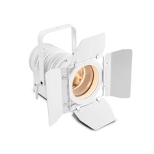Cameo Theatre spotlight with PC lens and 40 watt warm white LED in white housing - TS 40 WW WH