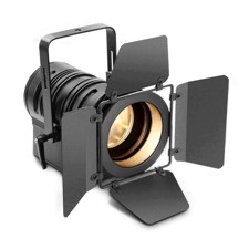Cameo Theatre spotlight with PC lens and 40 watt warm white LED in black housing - TS 40 WW