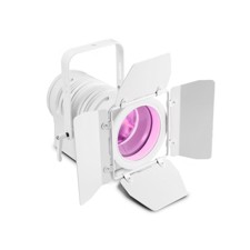 Cameo Theatre spotlight with PC lens and 60W RGBW LED in white Housing - TS 60 W RGBW WH
