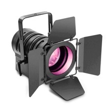 Cameo Theatre spotlight with PC lens and 60W RGBW LED in black Housing - TS 60 W RGBW