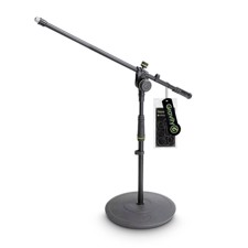 Gravity Short Microphone Stand with Round Base and 2-Point Adjustment Boom - MS 2221 B